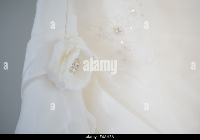 Wedding Dress Flower - Stock Image