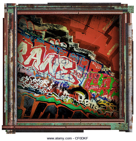 graffiti artwork - Stock Image