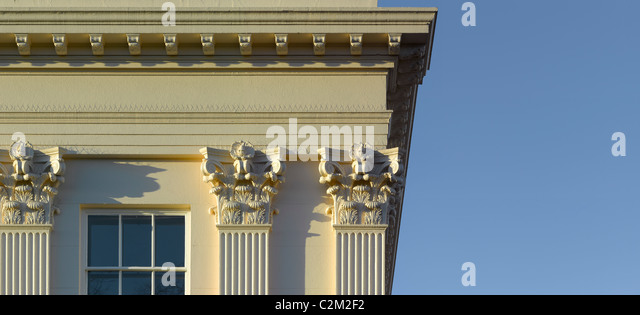 Window and column detail, Regents Park, London. - Stock Image