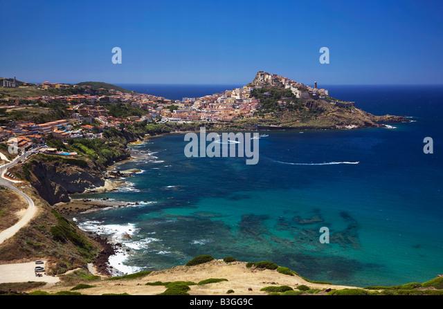Italy Sardinia bay of Castelsardo - Stock Image
