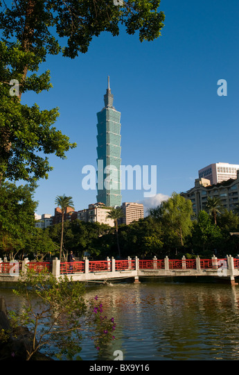 Taipei 101 Taipei Taiwan - Stock Image