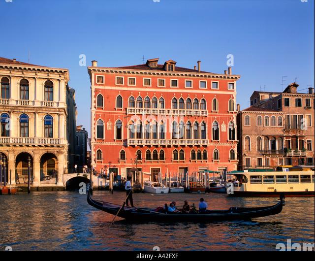 Canale Grande near Rialto Bridge , Gondola - Stock Image