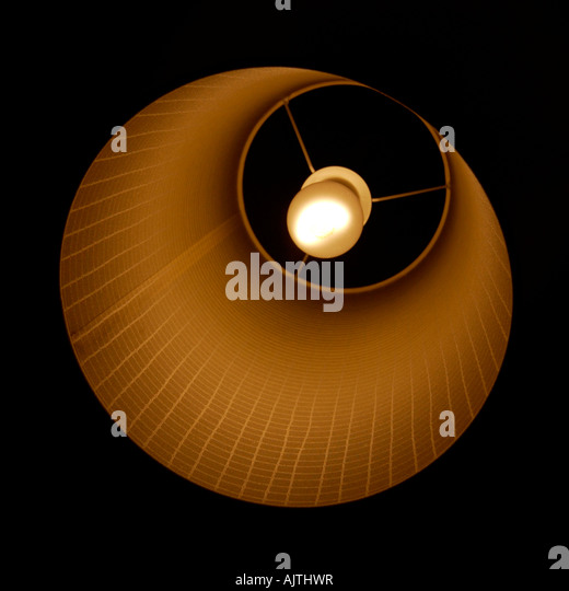 bulb and lampshade - Stock Image