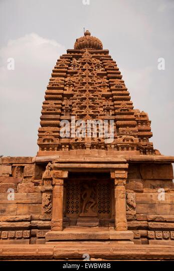 Tempelgebäude aus der Chalukya-Dynastie, UNESCO-Welterbe in Pattadakal, Karnataka, Indien, Asien  |  Chalukya - Stock-Bilder