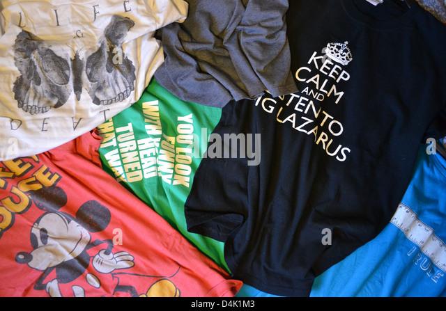 Colourful Shirts Stock Photos & Colourful Shirts Stock