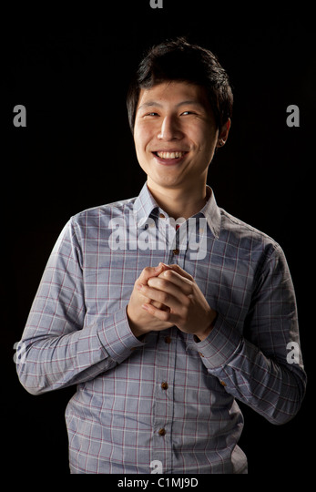 University student acting pose - Stock Image