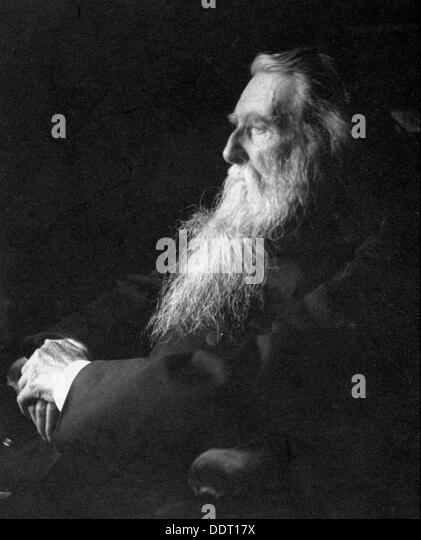 John Ruskin, English artist, poet and critic, c1897. Artist: Emil Otto Hoppe - Stock Image