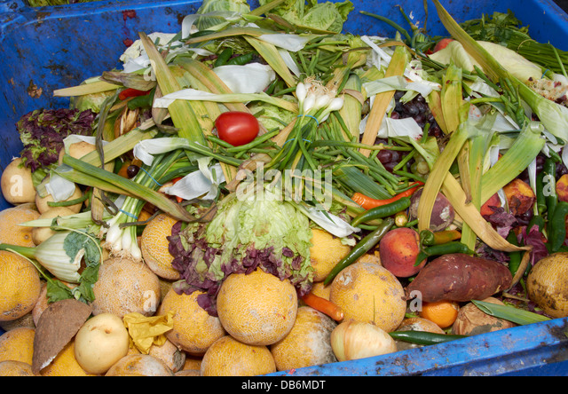 Fruit & vegetable food waste - Stock Image