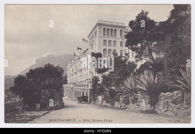 Riviera Palace Hotel, Monte Carlo, Monaco - Stock Image