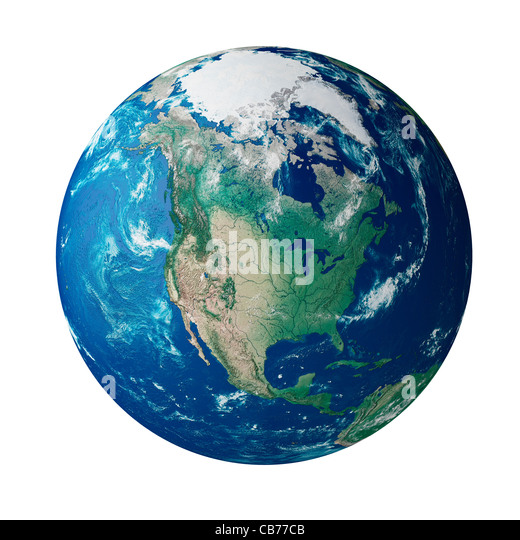 Globe showing the continent of North America - Stock Image