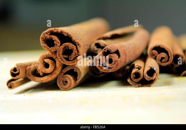 Cinamon sticks - Stock Image