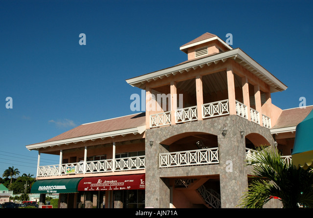 St Kitts West Indies Caribbean Port Zante shopping area for cruise ship passengers - Stock Image