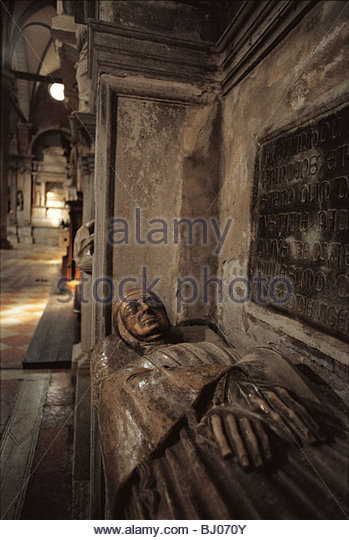 The tomb of the Doge Michelle Steno, the church of S.S. Giovanni e Paolo, Venice, Italy - Stock-Bilder
