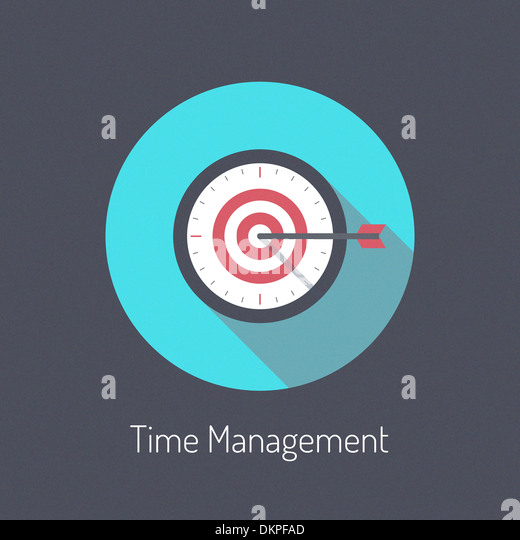 Flat design modern illustration poster concept of time management planning process and business metaphor time is - Stock Image