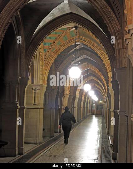 Manchester gothic town hall, Lancashire, England UK - Stock Image