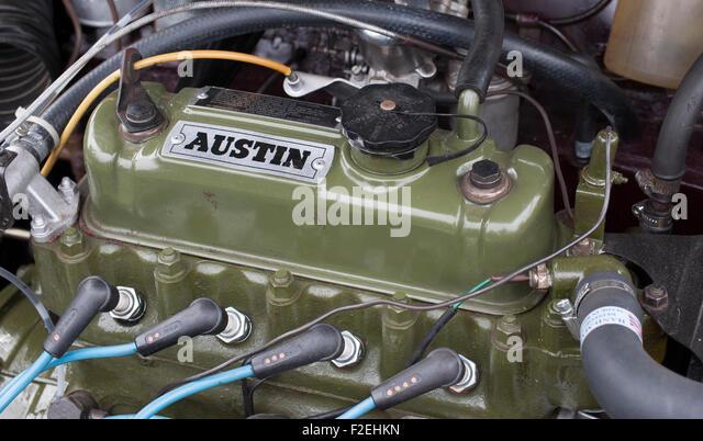 Classic BMC Austin Mini A-series Engine - Stock Image