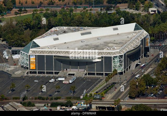 aerial photograph SAP Center at San Jose, Santa Clara, California - Stock Image