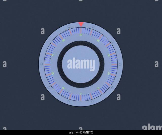 Safe dial, artwork - Stock Image