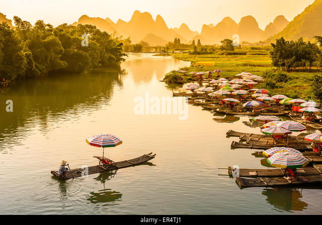 Yangshuo, China on the Li River. - Stock-Bilder