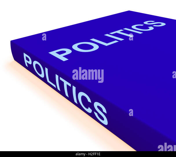 Politics Book Shows Books About Government Democracy - Stock Image