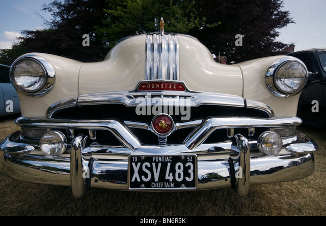 pontiac chieftain car at Paxton House vintage car rally - Stock Image