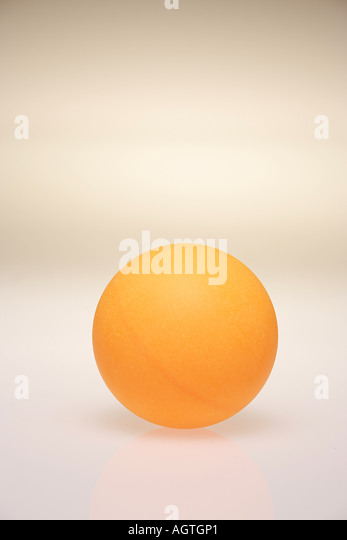 VDA79697 Table tennis ball one orange color - Stock Image
