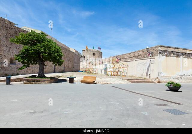 The beautiful walled town of Alghero, Northern Sardinia - Stock Image