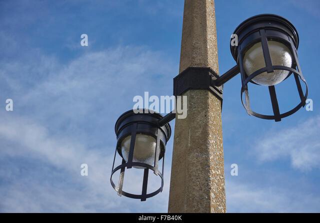 art deco street lighting, Susquehanna River Bridge, Columbia, Lancaster County, Pennsylvania, USA - Stock Image