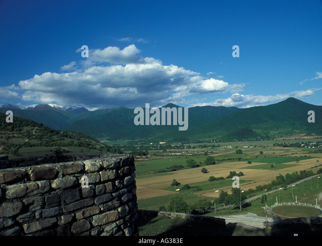 View of the Pankisi Gorge Georgia - Stock Image