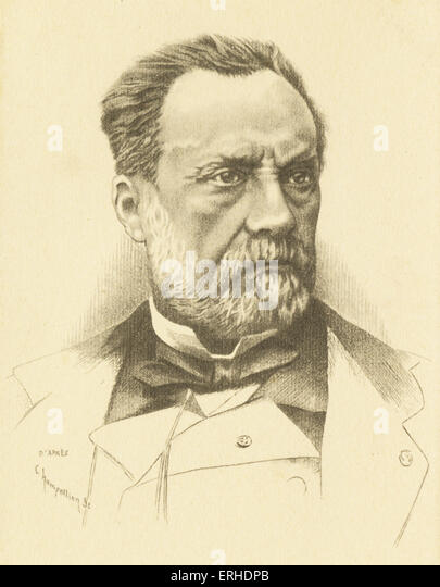 Louis Pasteur, portrait,  French scientist 1822 - 1895, inventor of process of pasteurisation and obtaining vaccines - Stock Image