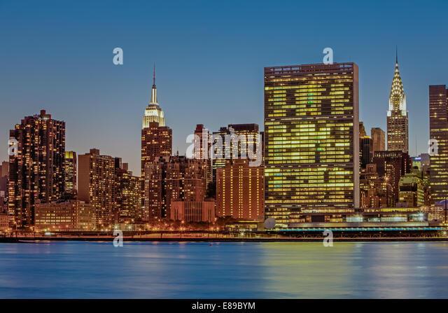New york united nations view stock photos new york for New york landmarks