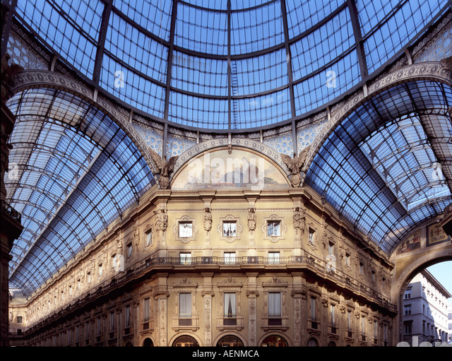 Mailand, Galleria  Vittorio Emanuele II, Glaskuppel - Stock Image