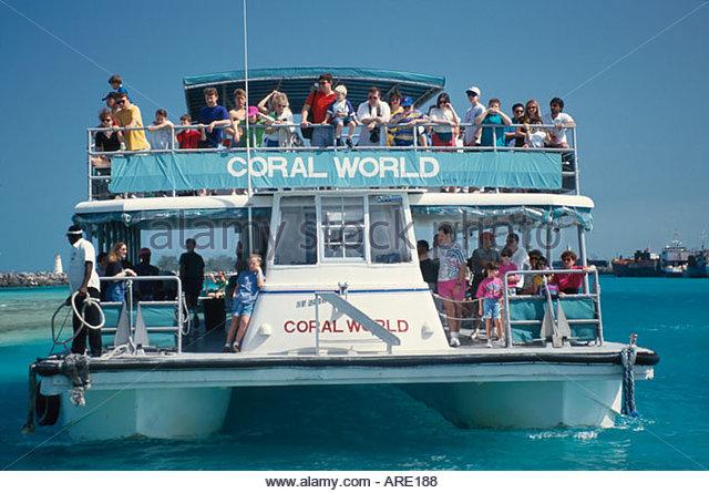 Bahamas New Providence Nassau Coral World boat tour - Stock Image