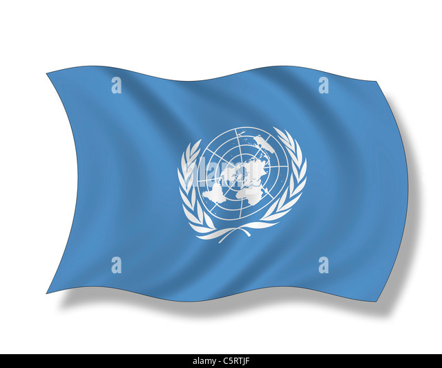 Illustration, Flag of United Nations - Stock Image