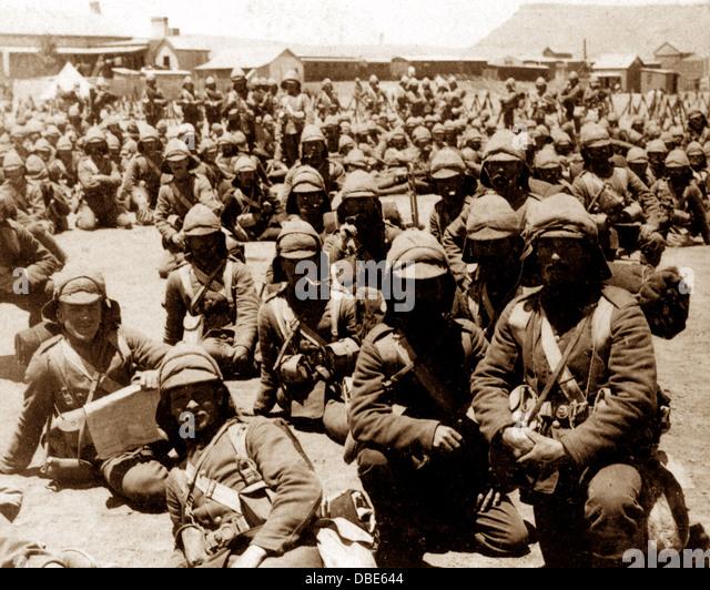 Boer War British Troops at Naauwpoort Victorian period - Stock Image