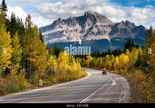 The Rockies in Autumn, Jasper National Park, Alberta, Canada - Stock Image
