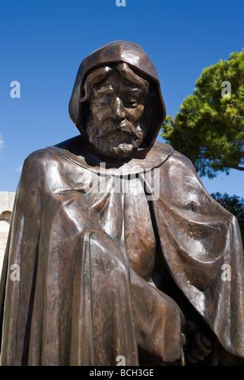 Statue of Francois Grimaldi as a monk Monaco monte carlo - Stock Image