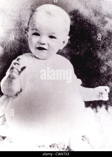 Marilyn Monroe as an infant, ca. 1926 - Stock Image