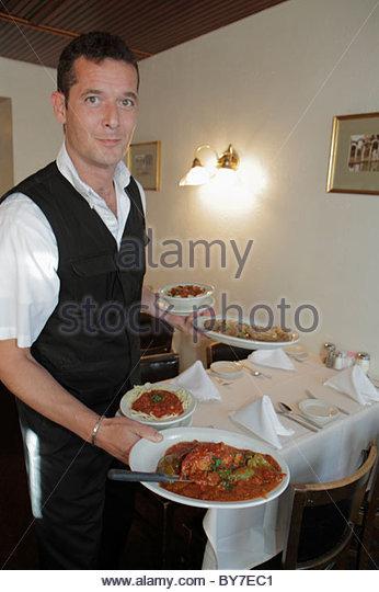Baltimore Maryland Little Italy ethnic neighborhood business restaurant Sabatino's Italian cuisine dining food - Stock Image