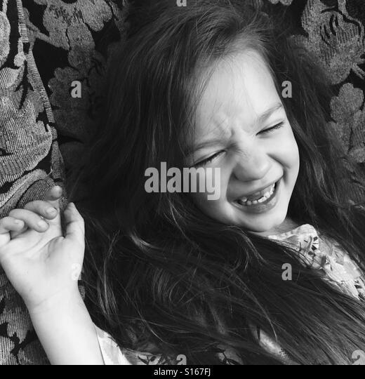 Laughing girl - Stock-Bilder