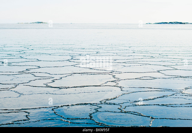 Pattern in the ice - Stock Image