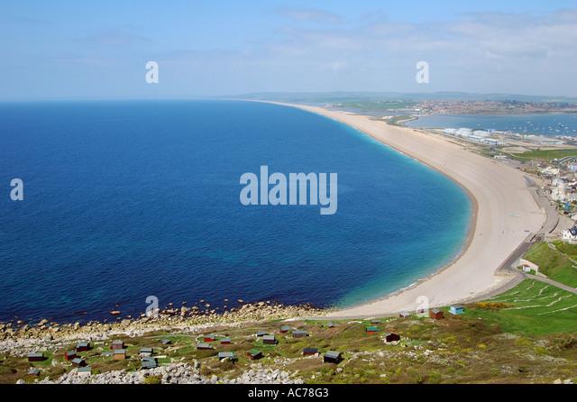 Chesil Beach Dorset England - Stock Image