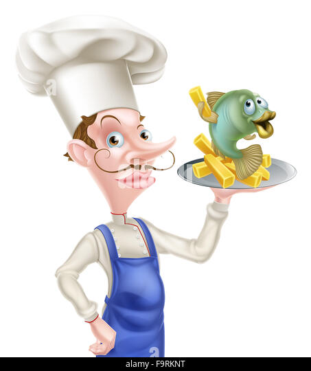 Fish N Chips Cartoon Characters : Potato chips on platter stock photos