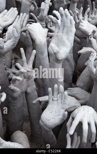 Artistic Display of Hands Asking for Help - Stock-Bilder