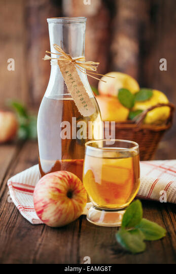Homemade organic apple cider - Stock Image