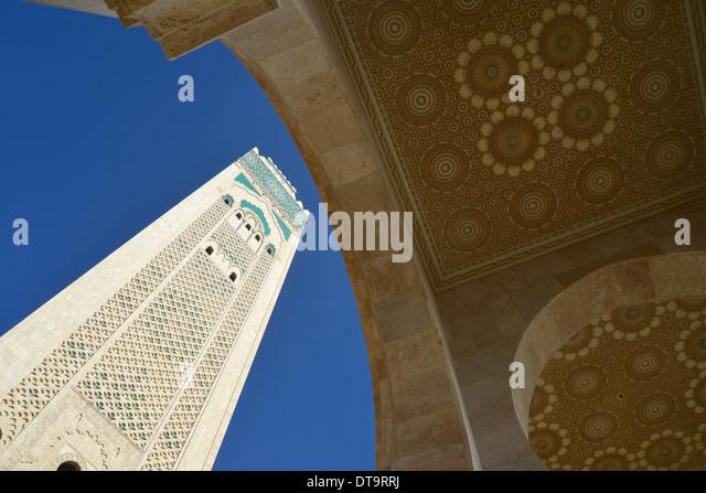 Grande Mosquée Hassan II, Bd Sidi Mohammed Ben Abdallah, Casablanca, Grand Casablanca Region, Kingdom of Morocco - Stock Image