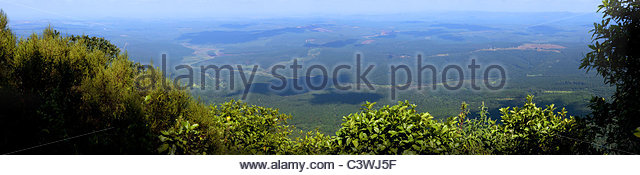 Panoramic view from God's Window - Blyde river Canyon - Mpumalanga - South Africa - Stock Image