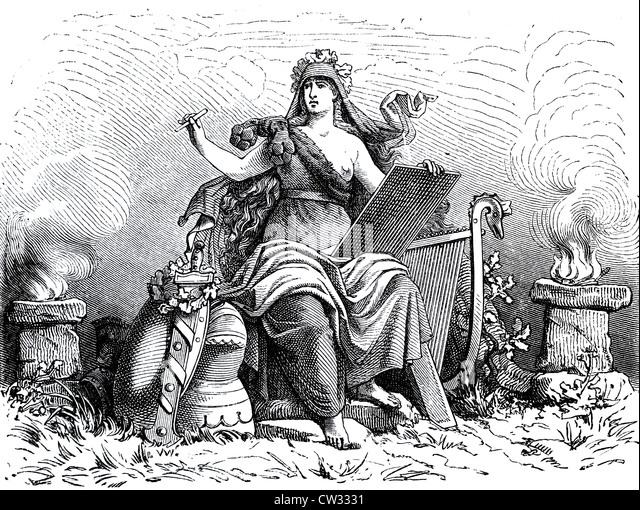 The writer of historical mythology - Stock Image