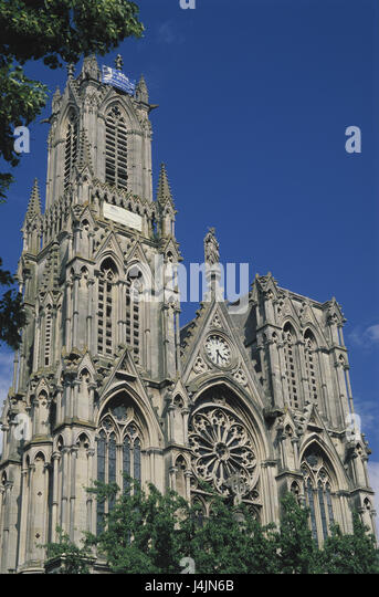 France, Lorraine, Nancy, St. Peter of church outside, summer, structure, building, architecture, cathedral, church, - Stock-Bilder