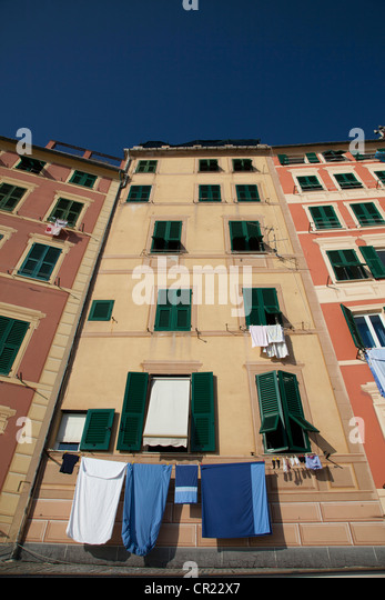 Low angle view of apartment buildings - Stock Image